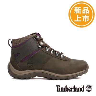 Timberland-女款深灰色拼色防水登山鞋