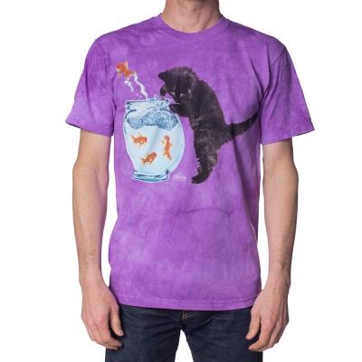 摩達客 美國進口The Mountain 抓魚小貓 純棉環保短袖T恤