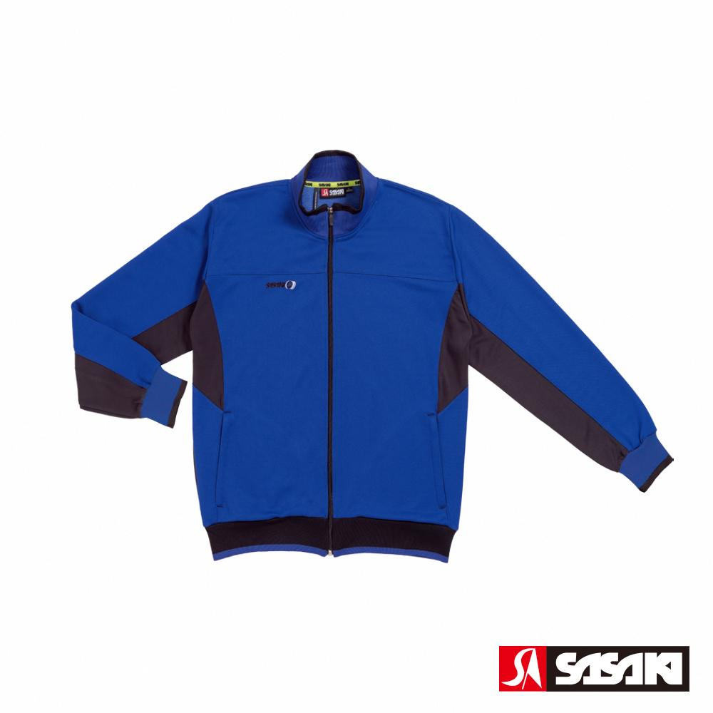 SASAKI 吸濕排汗功能針織運動夾克-男-義大利藍/黑
