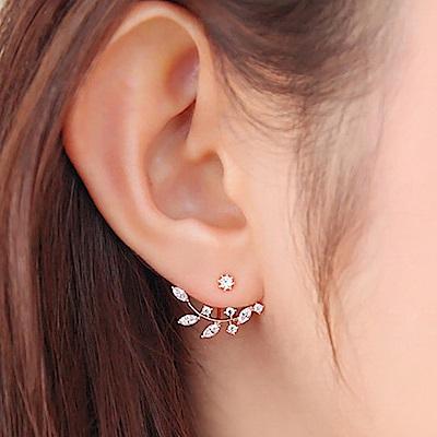 Hera 赫拉 韓版水鑽樹枝耳掛式耳釘-2色