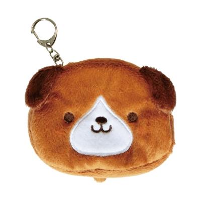 UNIQUE 動物樂園毛絨零錢包。小棕狗