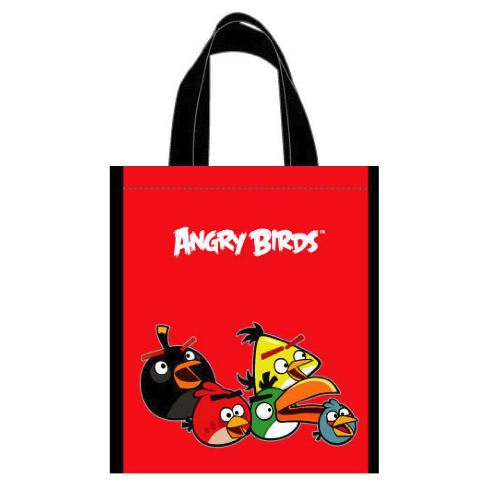 【Angry Birds 憤怒鳥】萬用手提袋(紅)