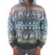 [摩達客]美國進口【Ecko Unltd】犀牛牌 橫紋骷髏頭鋪綿連帽拉鍊外套夾克 product thumbnail 1