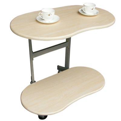 【耐重型】雙層-活動式餐桌【白橡木色】