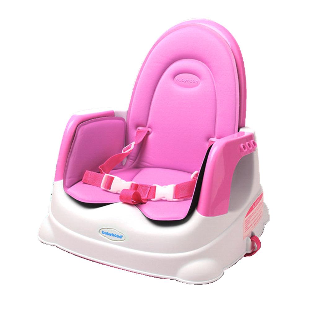 babyhood 咕咕兒童折疊餐椅加坐墊 豪華組 粉色