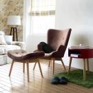 YKSHOUSE 自然采風單人沙發椅凳組 多色可選