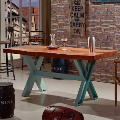 AT HOME - 洛基 6 尺實木餐桌 180x80x75cm