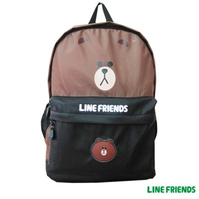 LINE FRIENDS 熊大休閒後背包(咖)LI5456