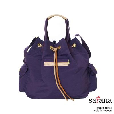 satana - 抽繩水桶包 - 紫色