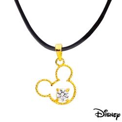 Disney迪士尼金飾 巧巧米奇黃金墜子 送項鍊