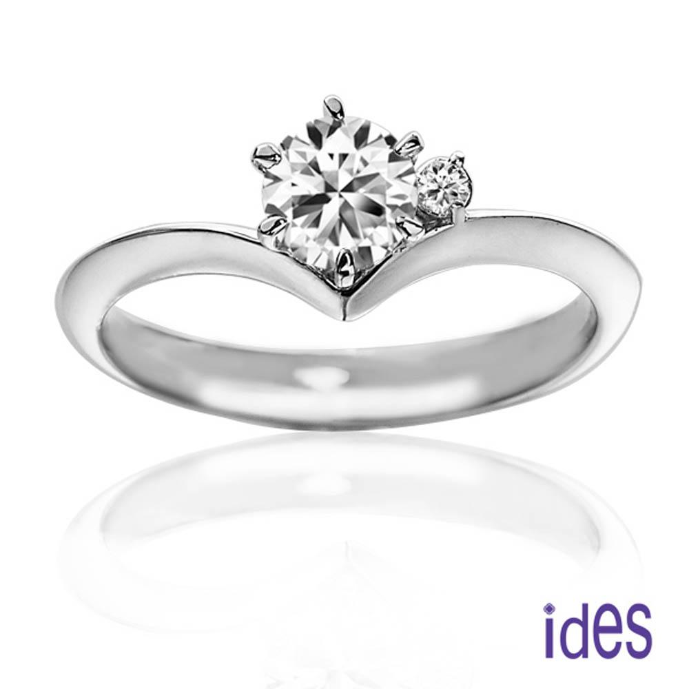 ides愛蒂思 品牌設計款35分E/VS1八心八箭完美車工鑽石戒指求婚戒/唯一