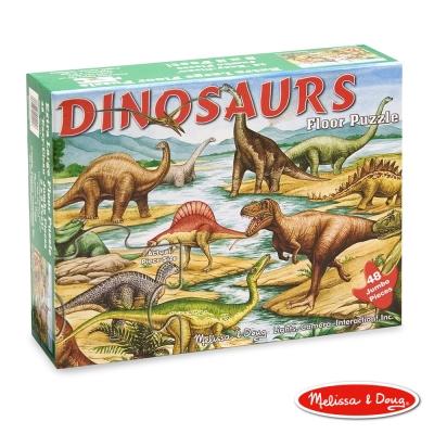 美國瑪莉莎 Melissa & Doug 大型地板拼圖 - 恐龍 48片