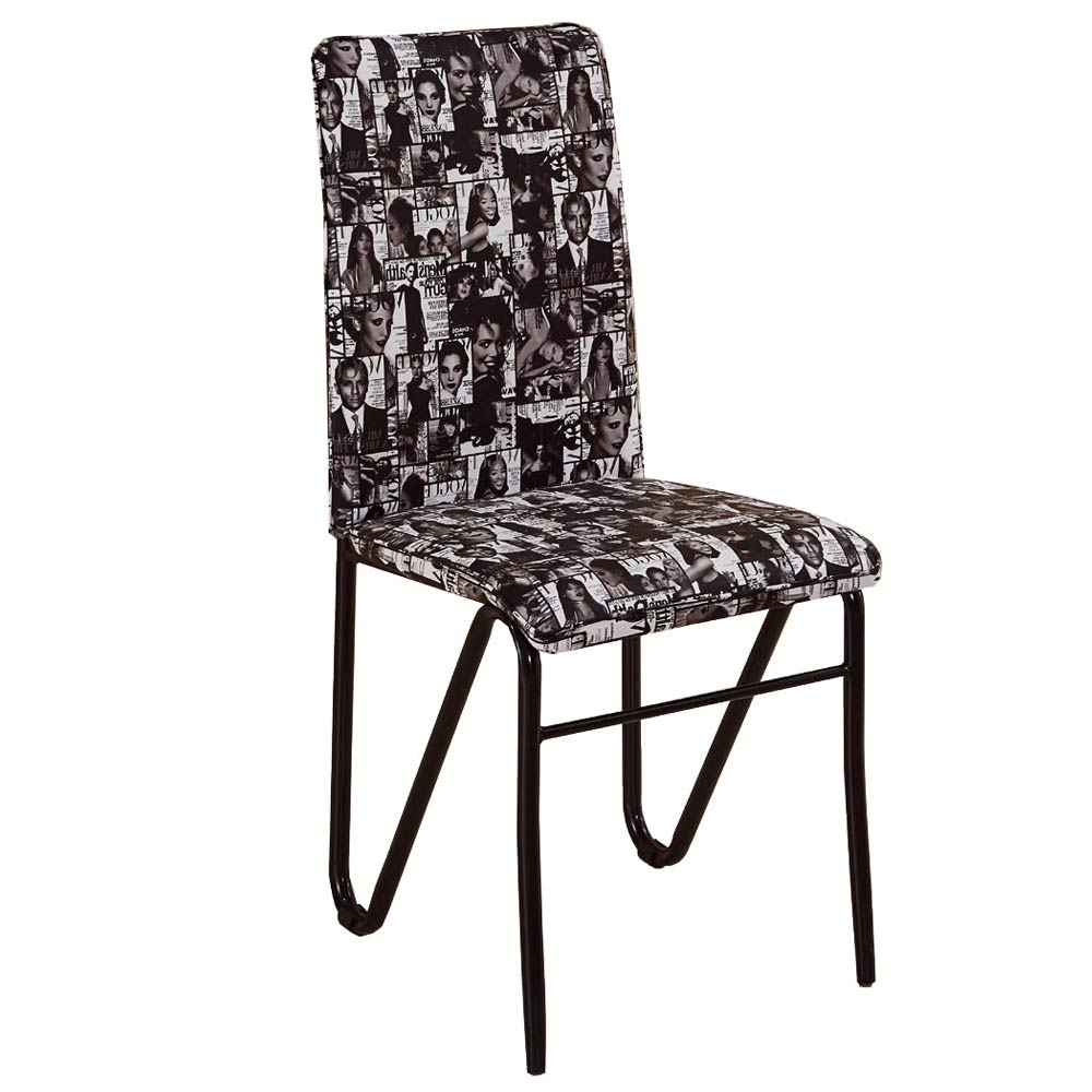 AT HOME - 韋特雜誌紋皮餐椅 45x63x102cm