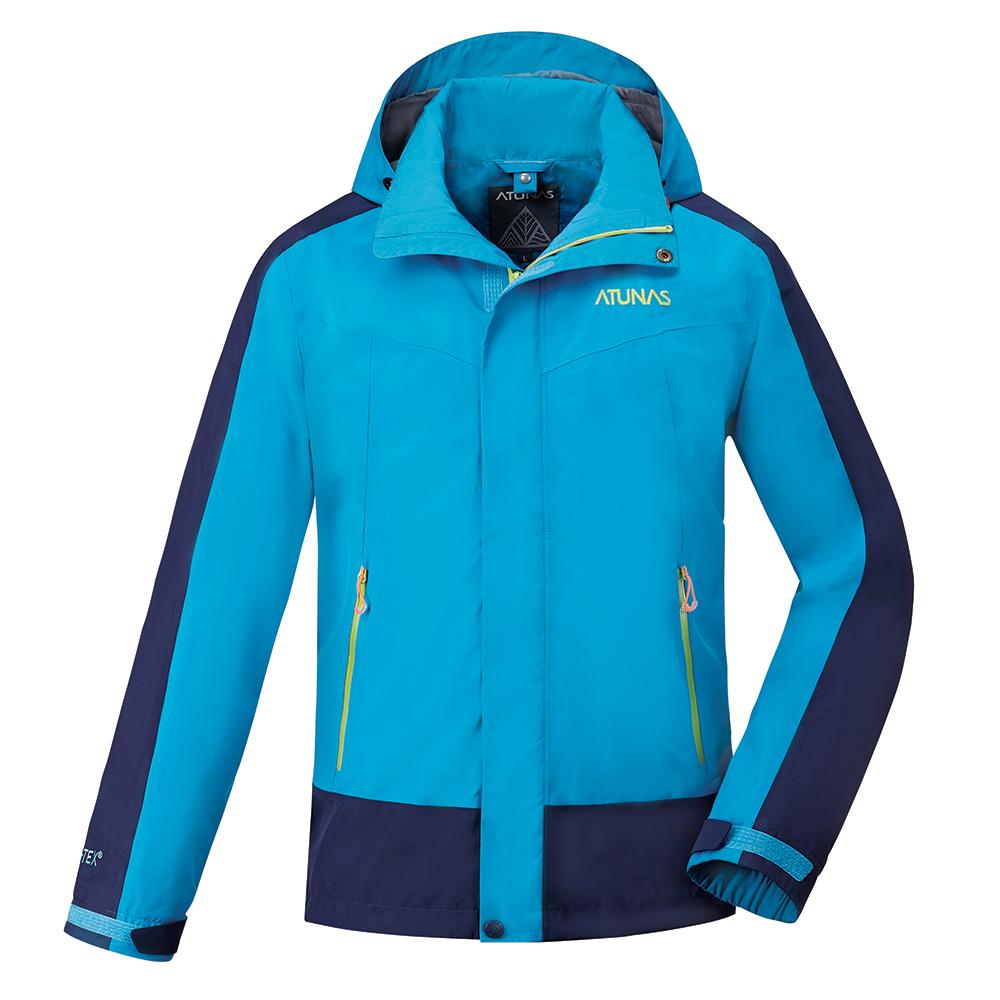 【ATUNAS 歐都納】男款防水GORE-TEX二件式風衣外套A-G1713M藍