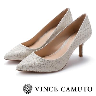 VInce Camuto 美型動物紋中跟鞋-米色