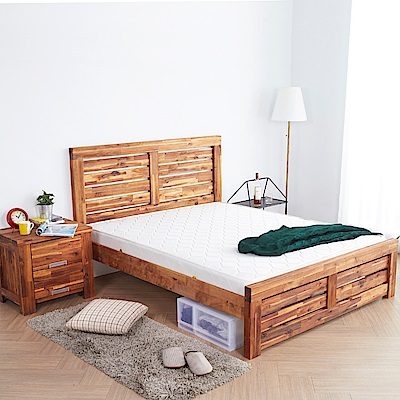 H&D 奧瑞鄉村系列實木雙人房間3件組 (寬158X深200X高110cm)