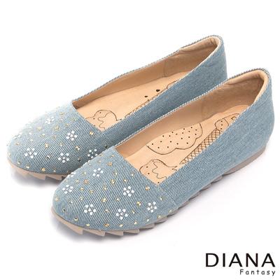 DIANA-超厚切冰淇淋款-甜美五瓣花朵平底娃娃鞋