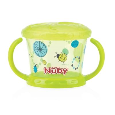 Nuby 防漏零食盒-綠(幾何)(12M+)
