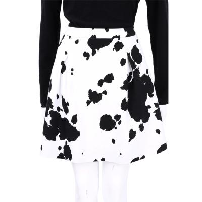 BOUTIQUE MOSCHINO 黑白色斑點抓褶短裙