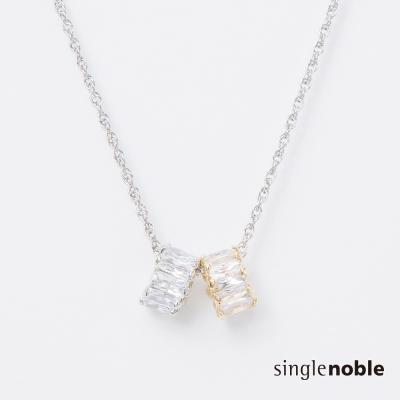 獨身貴族 經典簡約閃亮水晶圓環項鍊(1色)