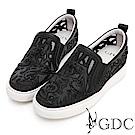 GDC-夢幻音符簍空休閒鞋-黑色