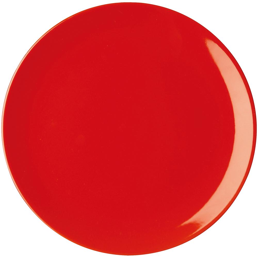 EXCELSA Trendy陶製淺餐盤(紅26cm)
