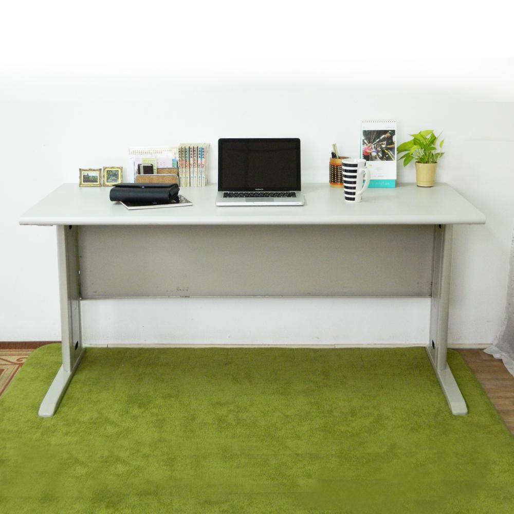 時尚屋 CD160灰色辦公桌 寬160cm-DIY