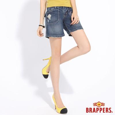 BRAPPERS 女款 Lady Vintage系列-女用五分褲--淺藍