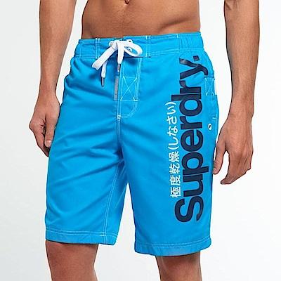 SUPERDRY 極度乾燥 男 短褲 藍色 0728