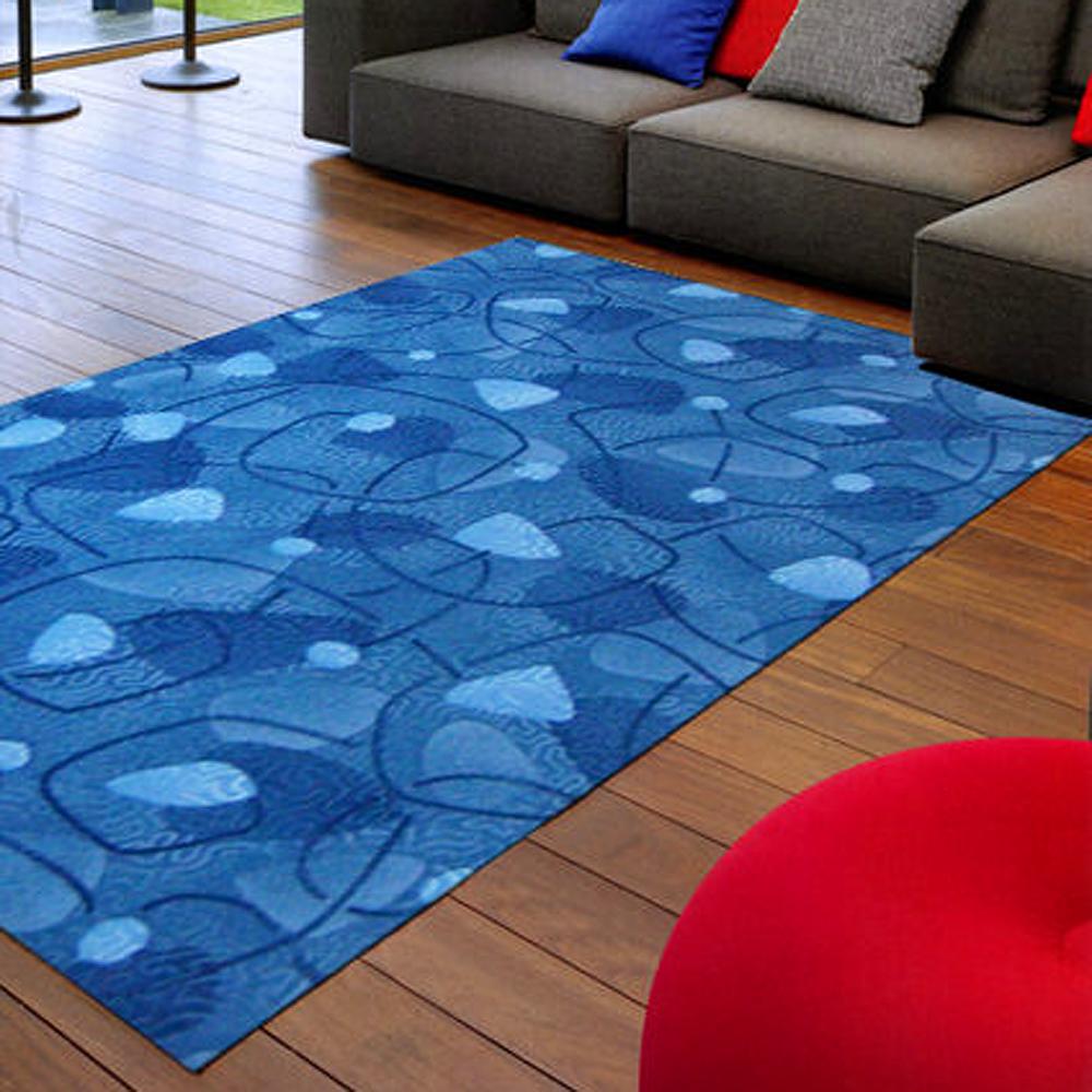 【范登伯格】尚雅★藍道圈毛編織地毯-(藍)-200x260cm