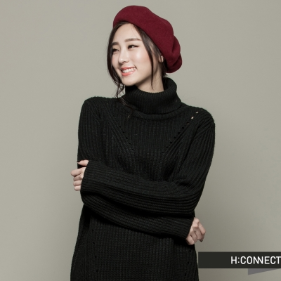 H-CONNECT-韓國品牌-女裝-高領針織毛衣
