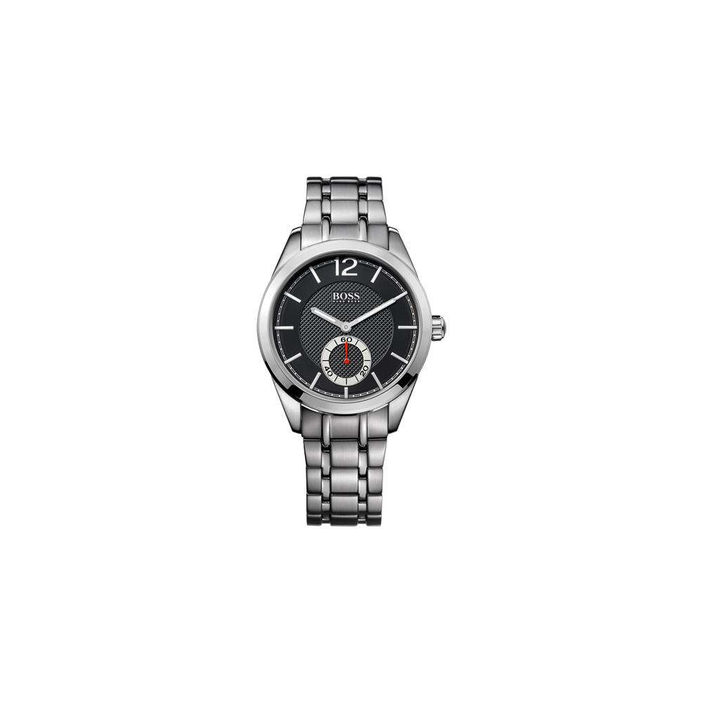 Hugo Boss 德式時尚獨立小秒針腕錶-黑/銀/40mm