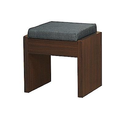 AS-Ansel胡桃色化妝椅-44x30x46cm