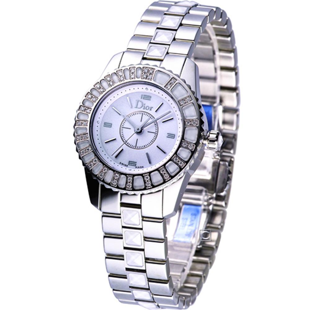 Dior Christal低調華麗時尚腕錶-白28mm