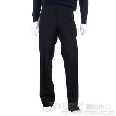 BOSS 黑色抓褶西裝褲