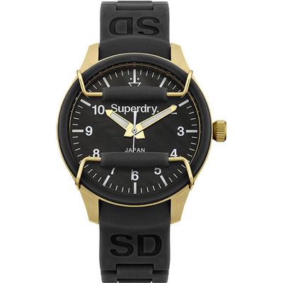 Superdry 極度乾燥Scuba活力潮流時尚腕錶-黑X金/38mm