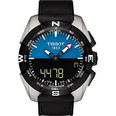 TISSOT T-TOUCH鈦 太陽能觸控錶(T0914204604100)-藍/45mm