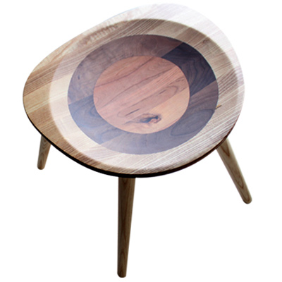 ROSA羅莎  羅勒造型小圓凳-白橡木