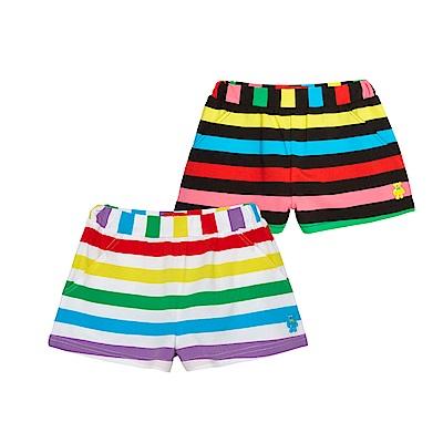WHY AND 1/2 條紋棉質萊卡短褲 5Y~10Y 多色可選