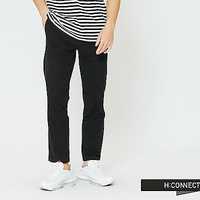 H:CONNECT 韓國品牌 男裝-純色質感長褲-黑