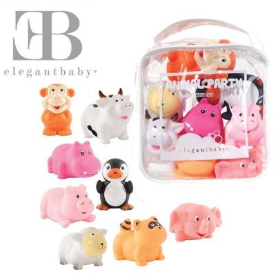 Elegant Baby 洗澡玩具8入組-動物派對