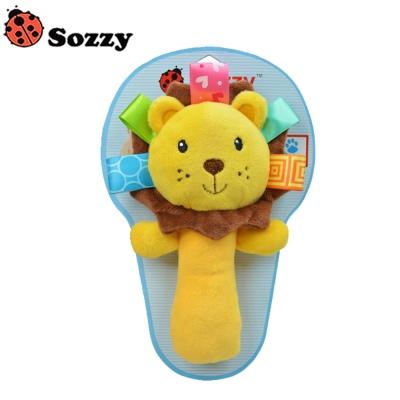 嬰兒動物手搖鈴聲響安撫玩具