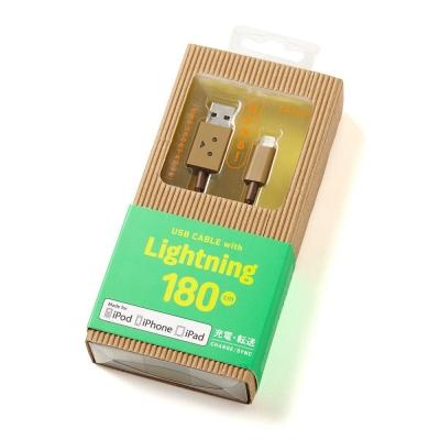 日本cheero阿愣Lightning USB充電傳輸線-180公分