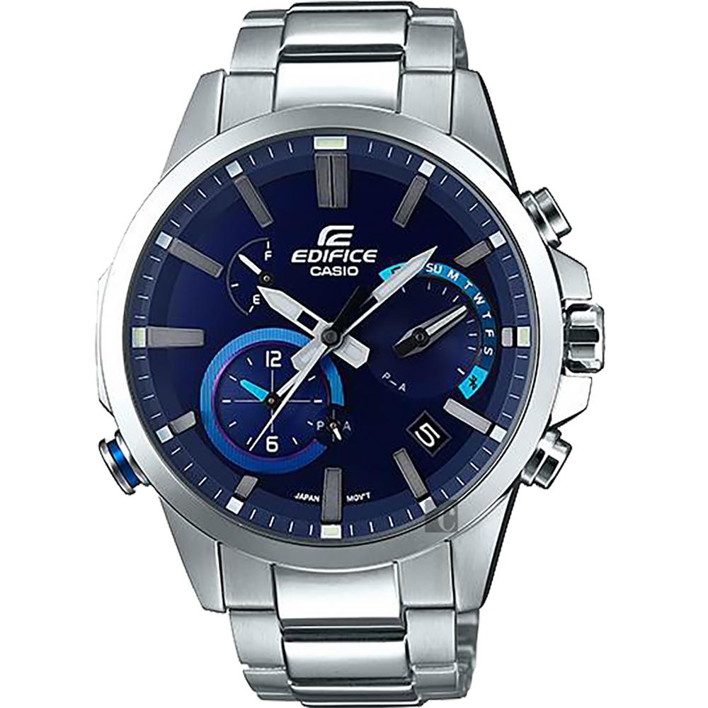 CASIO 卡西歐 EDIFICE 藍牙智慧太陽能手錶-藍/52.1mm @ Y!購物