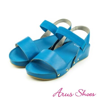 GDC-素面一字羅馬涼拖鞋-藍色