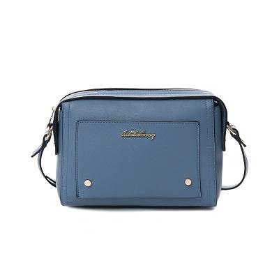 B.S.D.S冰山袋鼠-果漾嘉年華x典雅波士頓造型側背小包-湛灰藍