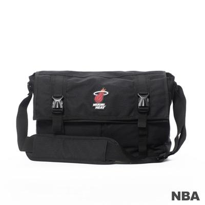 NBA-邁阿密熱火隊功能性大郵差包-黑色