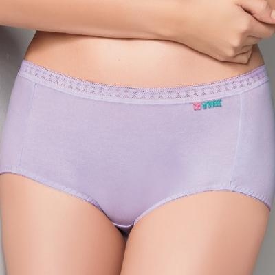 【思薇爾】柔感棉系列高腰夜用生理褲(花香紫)