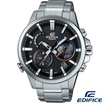 EDIFICE 藍芽立體計時時尚錶(EQB-600D-1A)-47.3mm