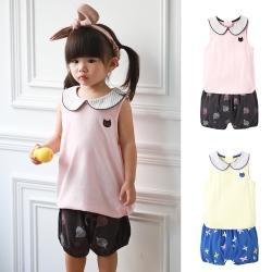 baby童衣 貓咪圓領背心加短褲 兩件組 60339